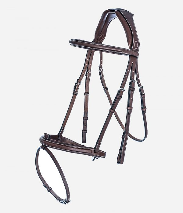 Arion Horse Sport Tack_Anatomic French Noseband Bridle_brown