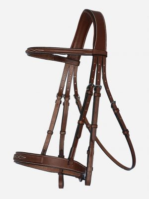 Arion Horse Sport Tack_Hunter Bridle with Fancy Stitching brown