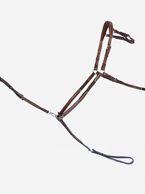 Arion Horse Sport Tack_Raised 5 Point Breastplate brown