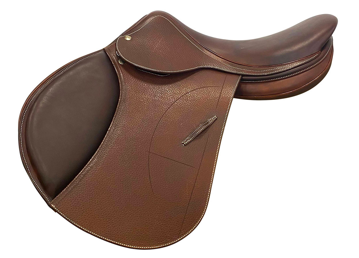 Jumping grained saddle